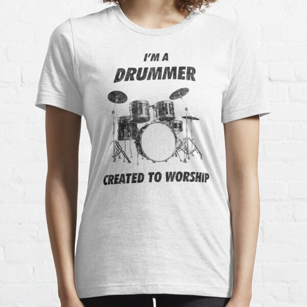 Drummer Musician Gift Him Dad Mens Music T-Shirt Finest Dads Play Drums