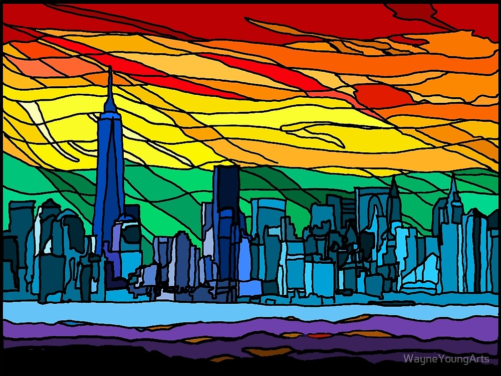 New York Pride Cityscape by WayneYoungArts