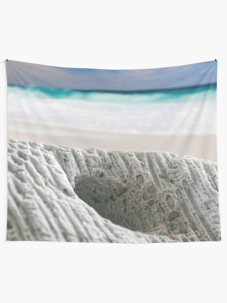 Alternate view of Coral By The Sea Tapestry