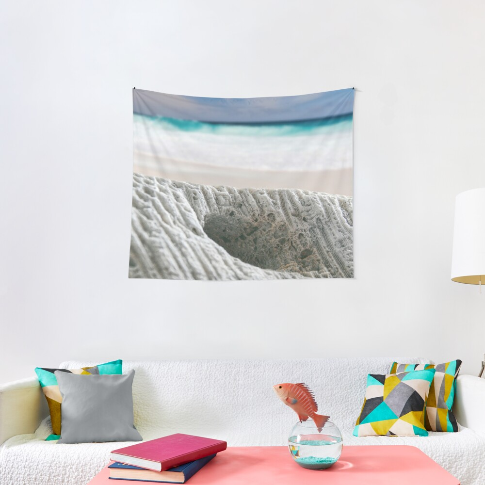 Coral By The Sea Tapestry