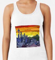 Camiseta con espalda nadadora Paisaje urbano de Seattle Pride