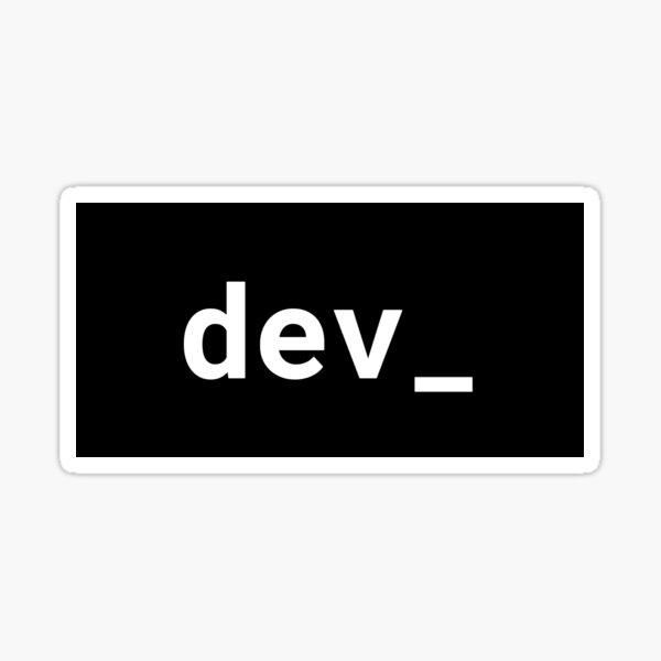 dev_ Sticker