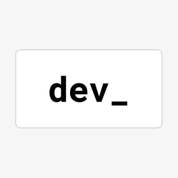 dev_ (Inverted) Sticker