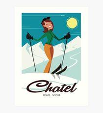 Chatel ski poster Art Print