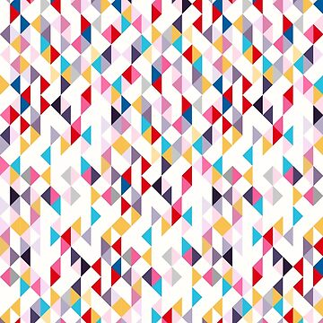 Colorful Modern Geometry Triangle Confetti by MyArt23
