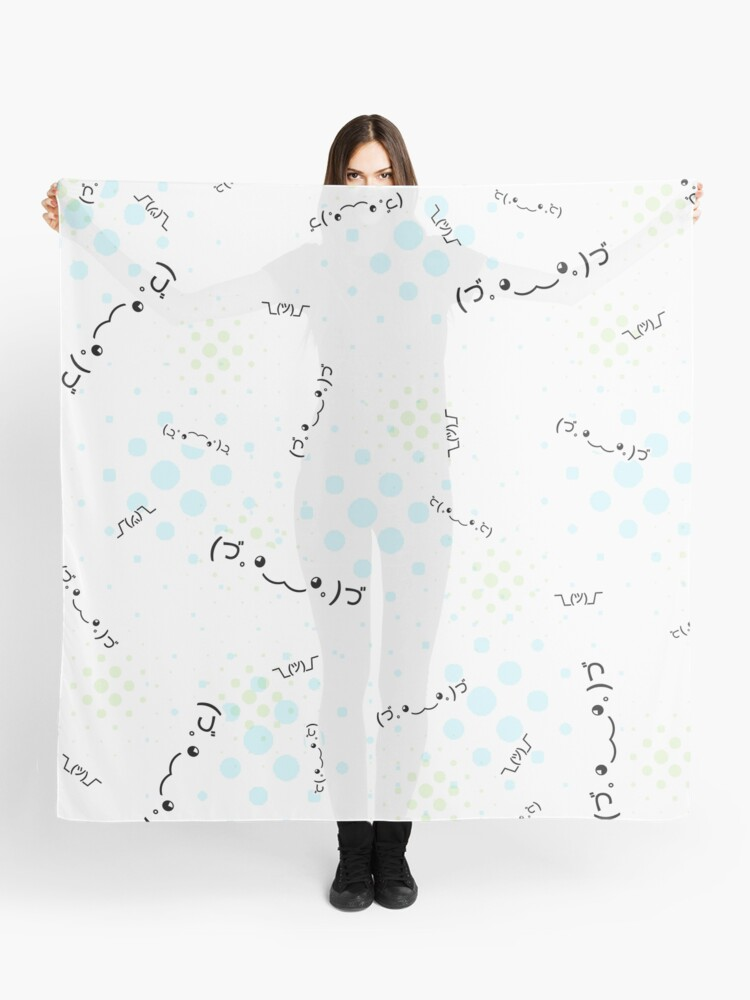 Text Emoji and Kawaii Faces Emoticon text-based retro black blue and white  pattern and sticker set x7 HD High Quality Online Store | Scarf