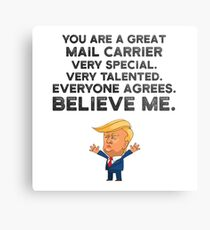 Mail Carrier Funny Trump Metal Print