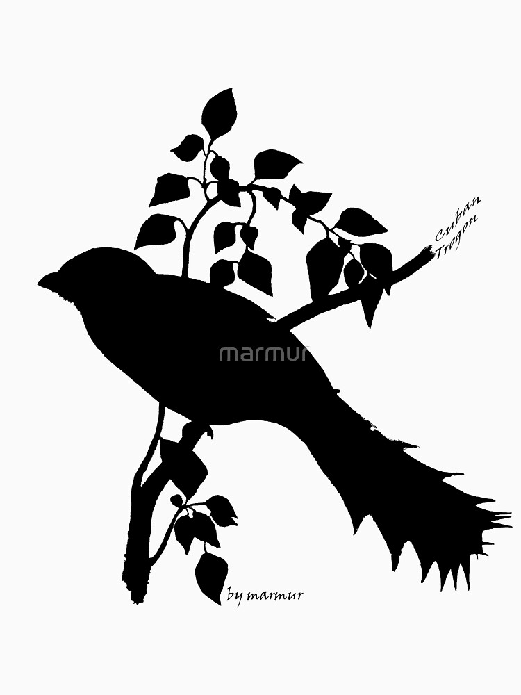Black Cuban Trogon silhouette by marmur