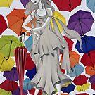 In search of an umbrella by Tatyana Binovskaya