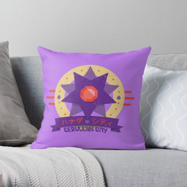 Kanto Gym Logos - Cerulean City (2015) Throw Pillow