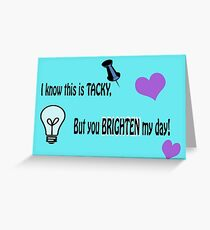 Tacky - Wortspiel Grußkarte
