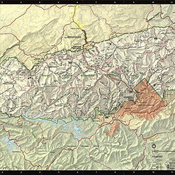 Mapa del Parque Nacional de las Grandes Montañas Humeantes (1997) de BravuraMedia