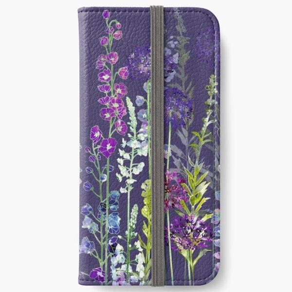 Purple Flower Meadow - Alliums, Delphiniums & Veronica Gentianoides iPhone Wallet