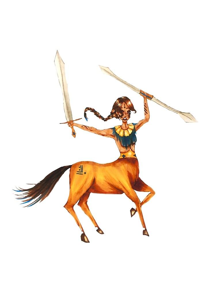 Centaur Warrior by soullessartist