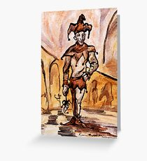 Jester Greeting Card