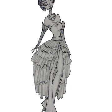 fashion sketch by soullessartist