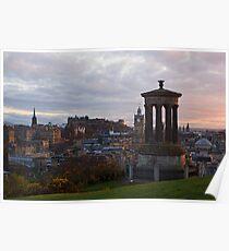 Sunset Over Edinburgh Poster