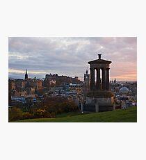 Sunset Over Edinburgh Photographic Print
