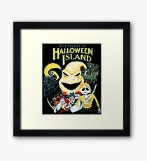 The Secret of Halloween Island Framed Print