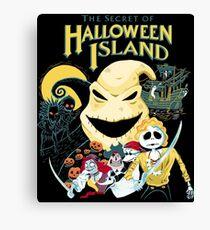 The Secret of Halloween Island Canvas Print