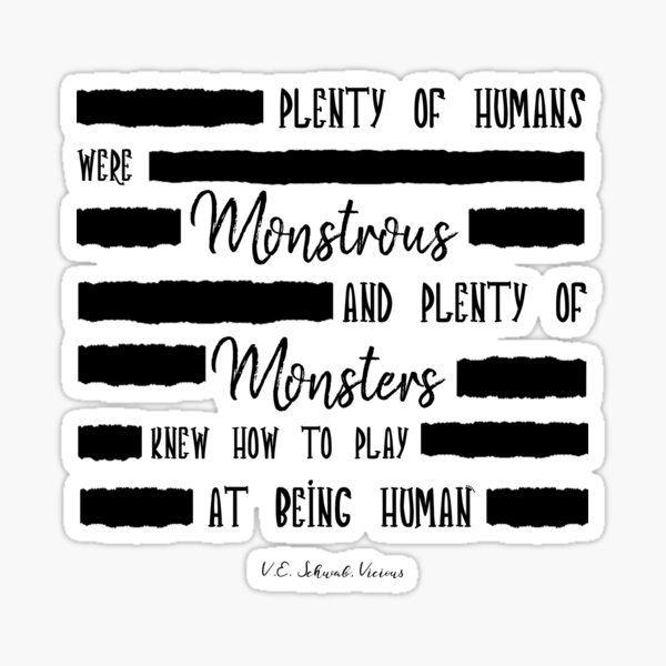 Vicious - Humans & Monsters Sticker