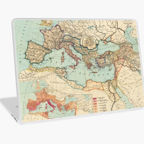 Vintage Map of The Roman Empire (1889) Laptop Skin
