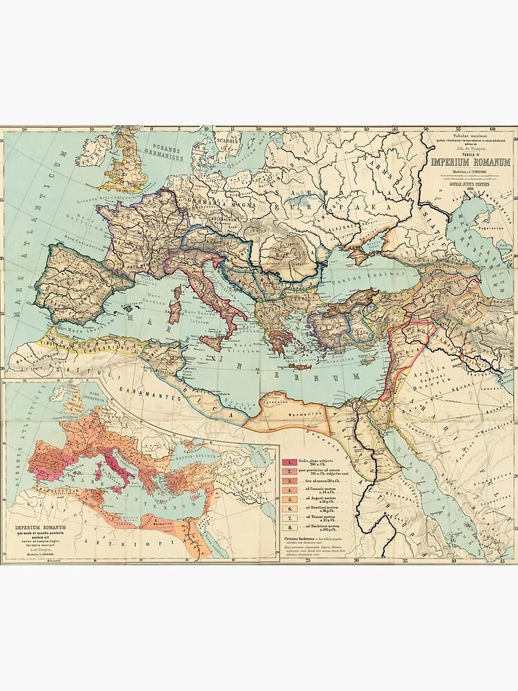 Vintage Map of The Roman Empire (1889) by BravuraMedia