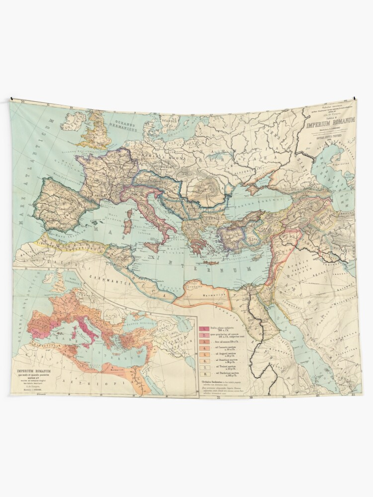 Alternate view of Vintage Map of The Roman Empire (1889) Tapestry