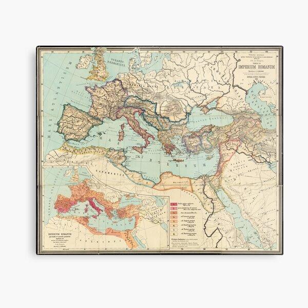 Vintage Karte des Römischen Reiches (1889) Metallbild