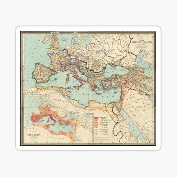Vintage Map of The Roman Empire (1889) Sticker