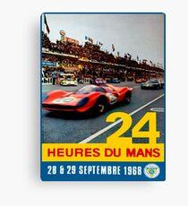 LE MANS; Jahrgang 1968 Grand Prix Auto Race Print Leinwanddruck