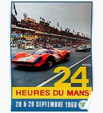 LE MANS; Jahrgang 1968 Grand Prix Auto Race Print Poster