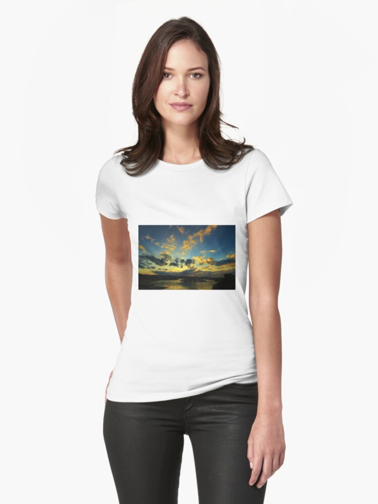 Marina Sunset Womens T-Shirt Front