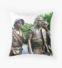Three Servicemen 2 Throw Pillow