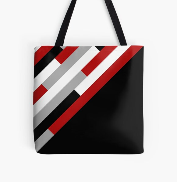 Diagonal stripes pattern All Over Print Tote Bag