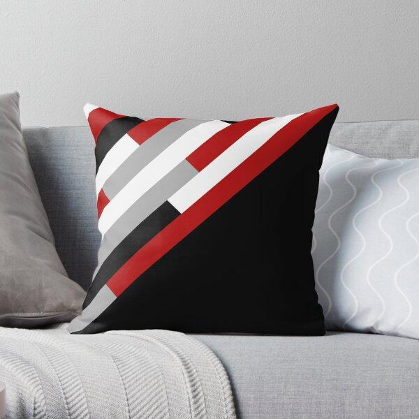 Diagonal stripes pattern Throw Pillow