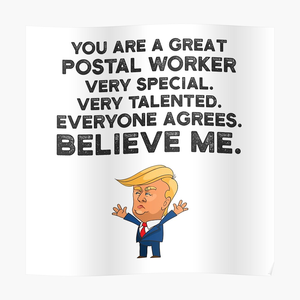 Postal Worker Funny Trump Sticker By Unedesigns Redbubble