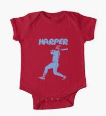 Bryce Harper Phillies - Blaue Schablone-2 Kurzärmeliger Einteiler