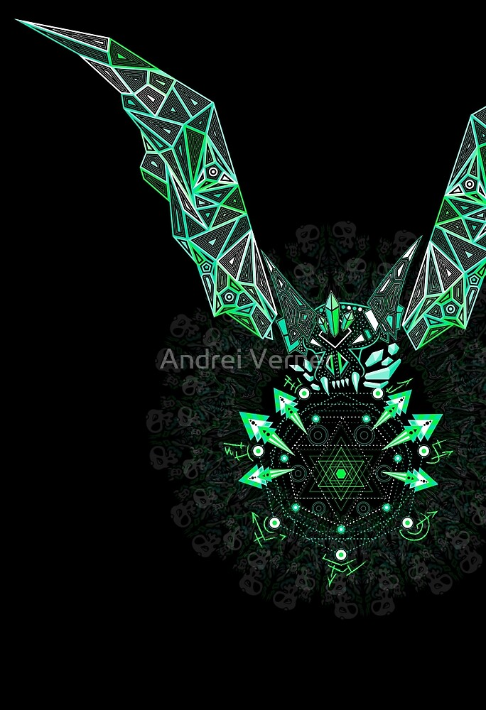Sacred geometry triangle bat by Andrei Verner