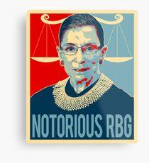 Notorische RBG Ruth Bader Ginsburg Metalldruck