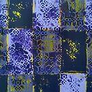 Purple tiles - original artwork by Katherine Clarke by Katherine Clarke