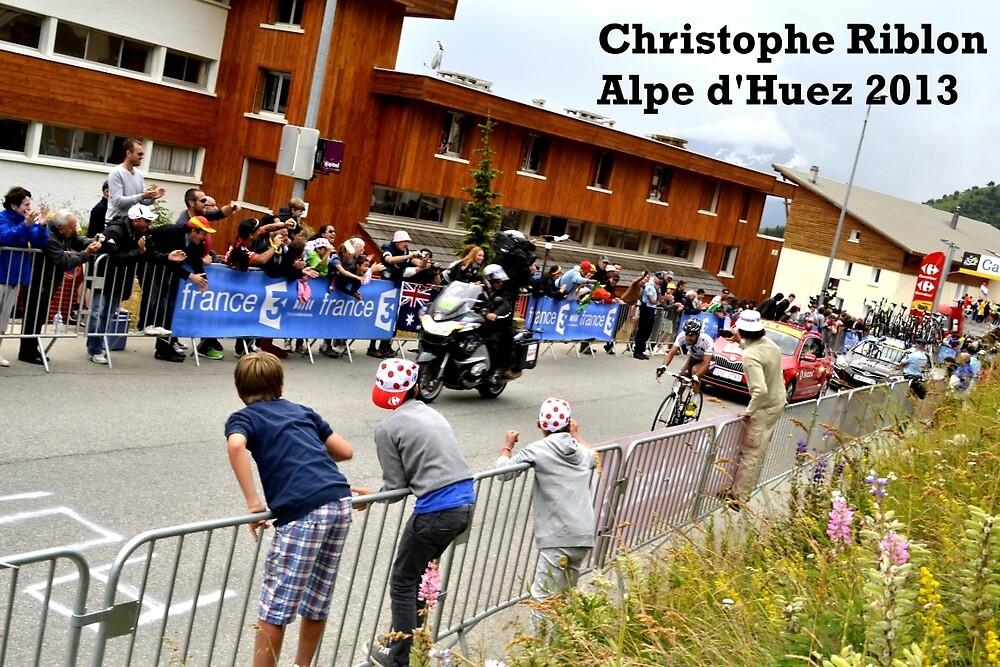 Christophe Riblon. Alpe d'Huez 2013. by JamesRannoch