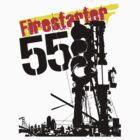 Firestarter 55 Modern Urban Design T-Shirt by jay007