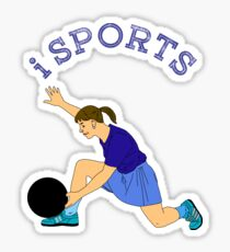 Sports, bowling, action Sticker