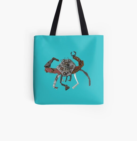 Sandy the Crab All Over Print Tote Bag