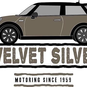 F56 Mini Team Velvet Silver by Wildharegrafix