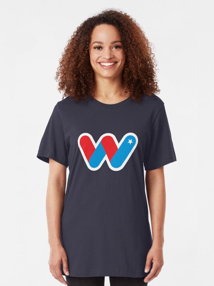 Alternate view of Wild Superhero Letter W Slim Fit T-Shirt