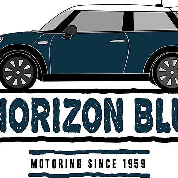 F56 Mini Team Horizon Blue by Wildharegrafix