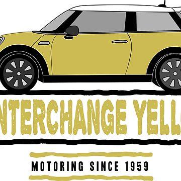 F56 Mini Team Interchange Yellow by Wildharegrafix