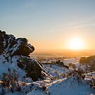 Ramshaw rocks in the snow by Anna Phillips
